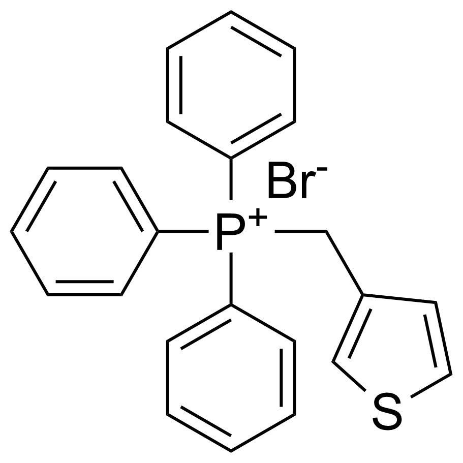Structure of (Thiophen-3-yl)methyltriphenyl phosphonium bromide