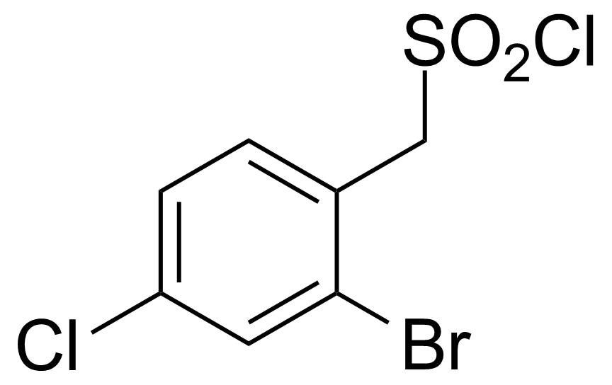 Structure of (2-Bromo-4-chlorophenyl)methanesulfonyl chloride