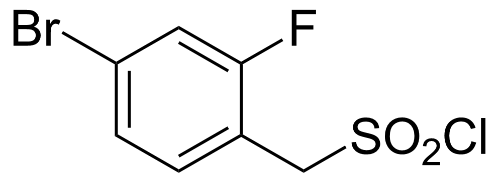 Structure of 4-Bromo-2-fluorobenzylsulphonyl chloride