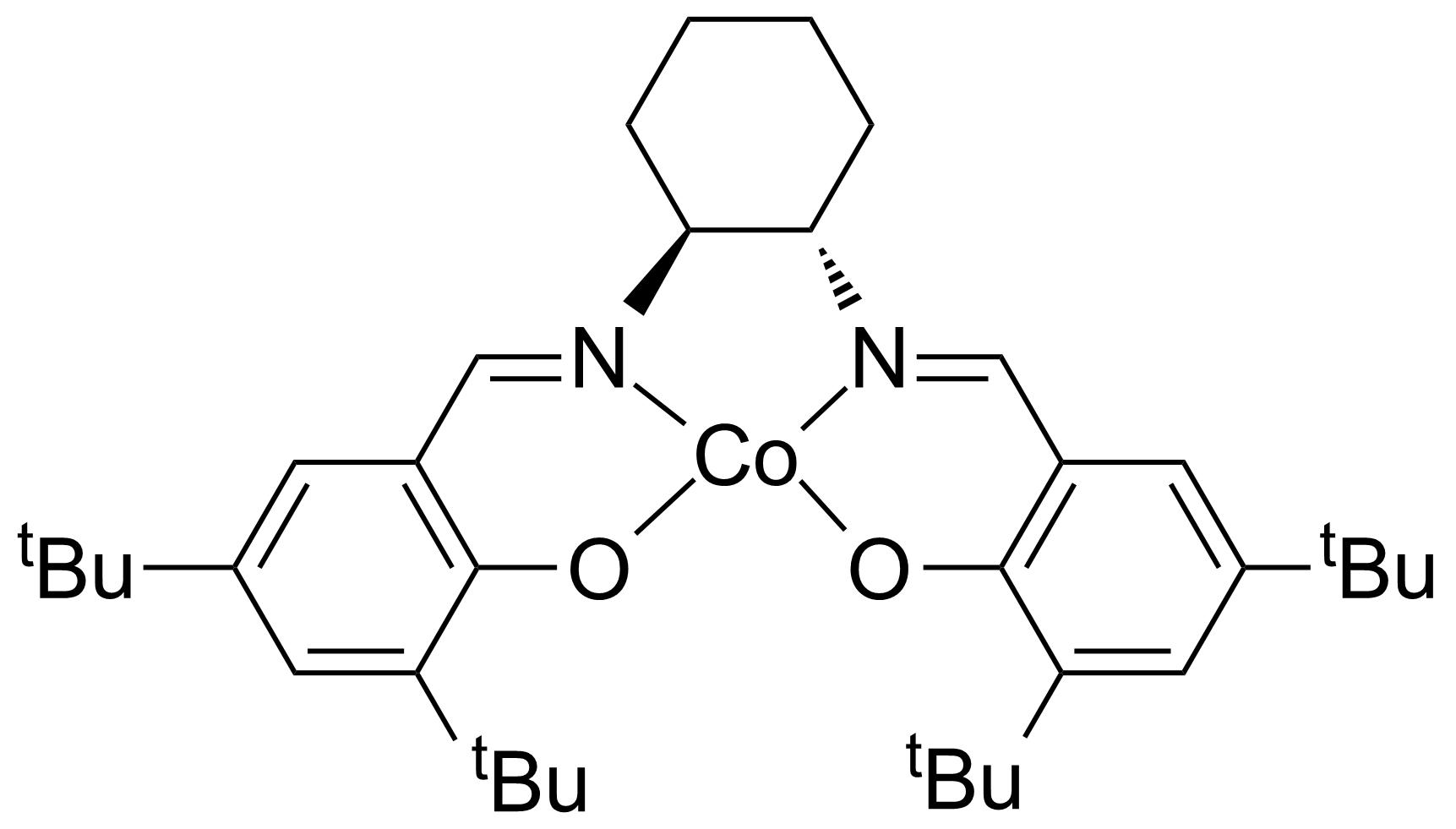 Structure of (S,S)-(+)-N,N'-Bis(3,5-di-tert-butylsalicylidene)-1,2-cyclohexanediaminocobalt(II)