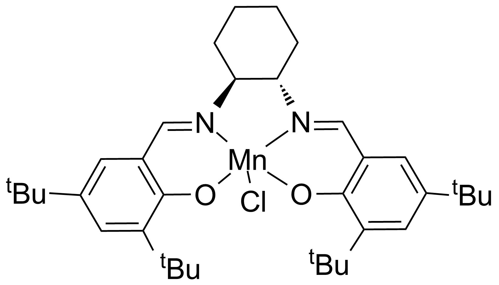 Structure of (S,S)-(+)-N,N'-Bis(3,5-di-tert-butylsalicylidene)-1,2-cyclohexanediaminomanganese(III) chloride
