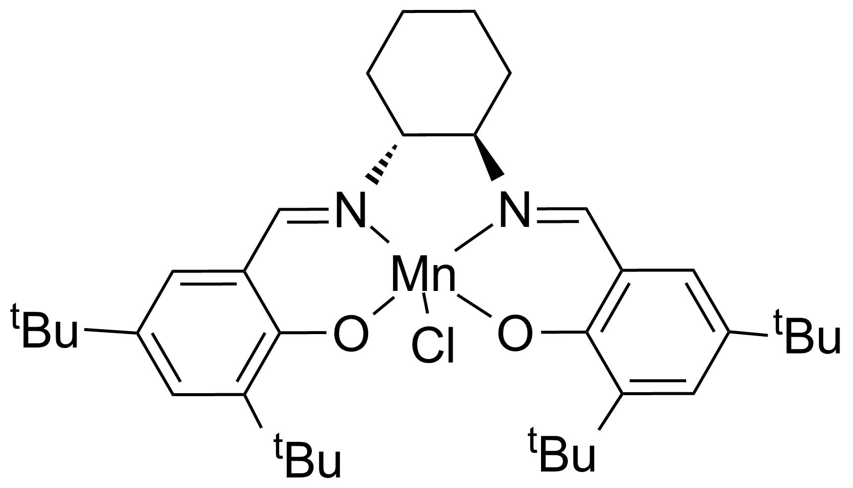 Structure of (R,R)-(-)-N,N'-Bis(3,5-di-tert-butylsalicylidene)-1,2-cyclohexanediaminomanganese(III) chloride