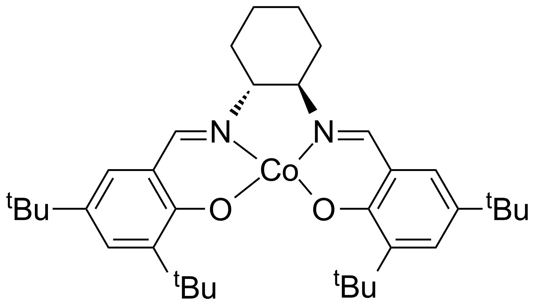 Structure of (R,R)-(-)-N,N'-Bis(3,5-di-tert-butylsalicylidene)-1,2-cyclohexanediaminocobalt(II)