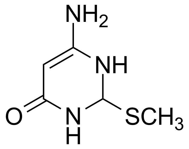 Structure of 2-Methylthio-4-aminouracil