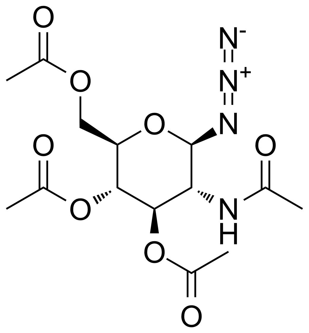 Structure of 2-Acetamido-3,4,6-tri-O-acetyl-2-deoxy-beta-D-glucopyranosyl azide