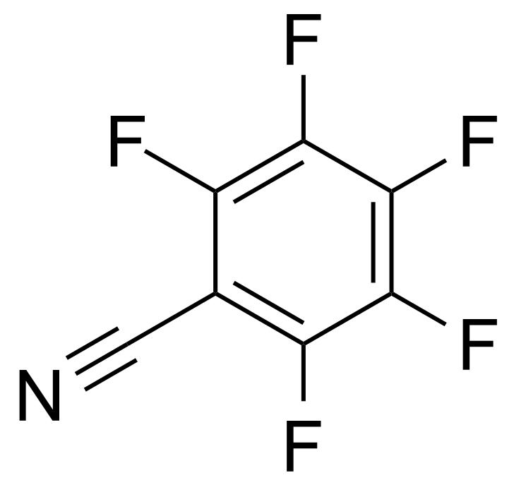 Structure of Pentafluorobenzonitrile