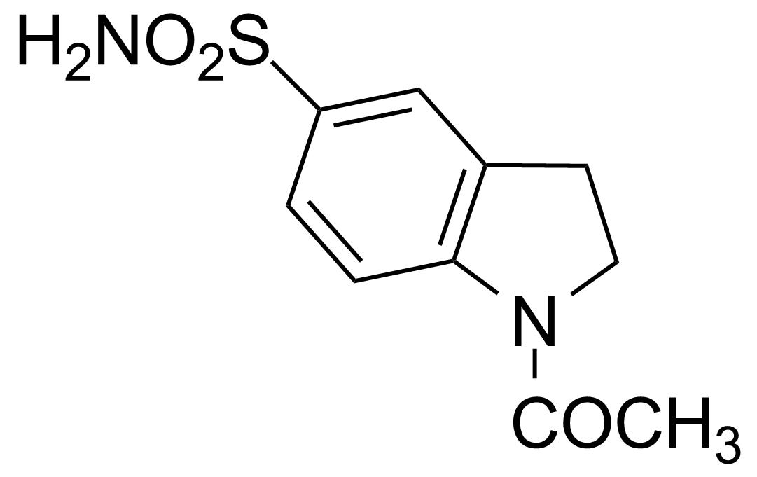 Structure of 1-Acetylindoline-5-sulphonamide