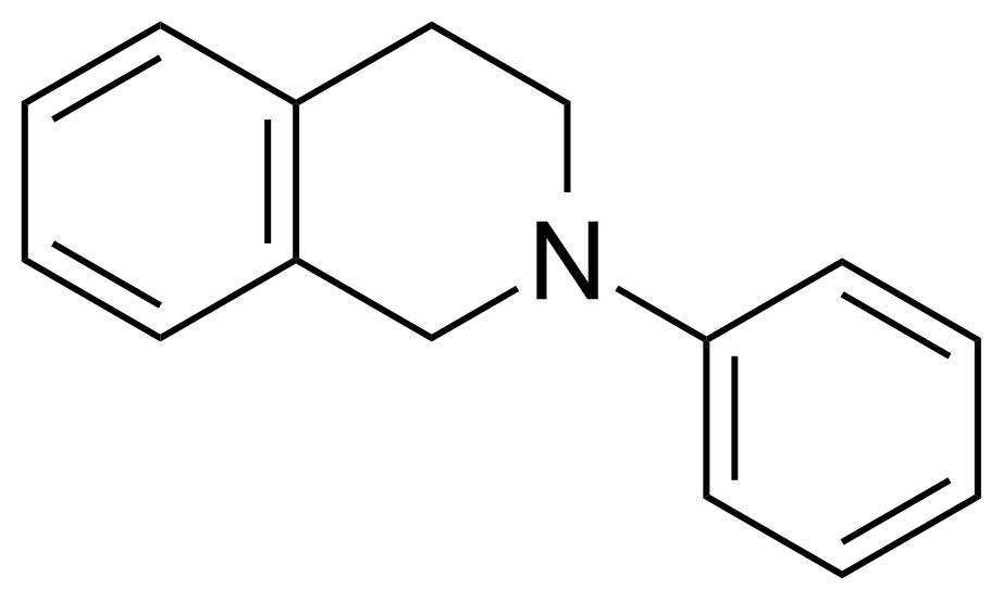 Structure of 2-Phenyl-1,2,3,4-tetrahydroisoquinoline