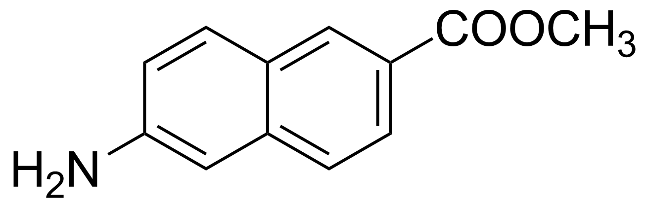 Structure of 6-Amino-2-naphthoic acid methyl ester