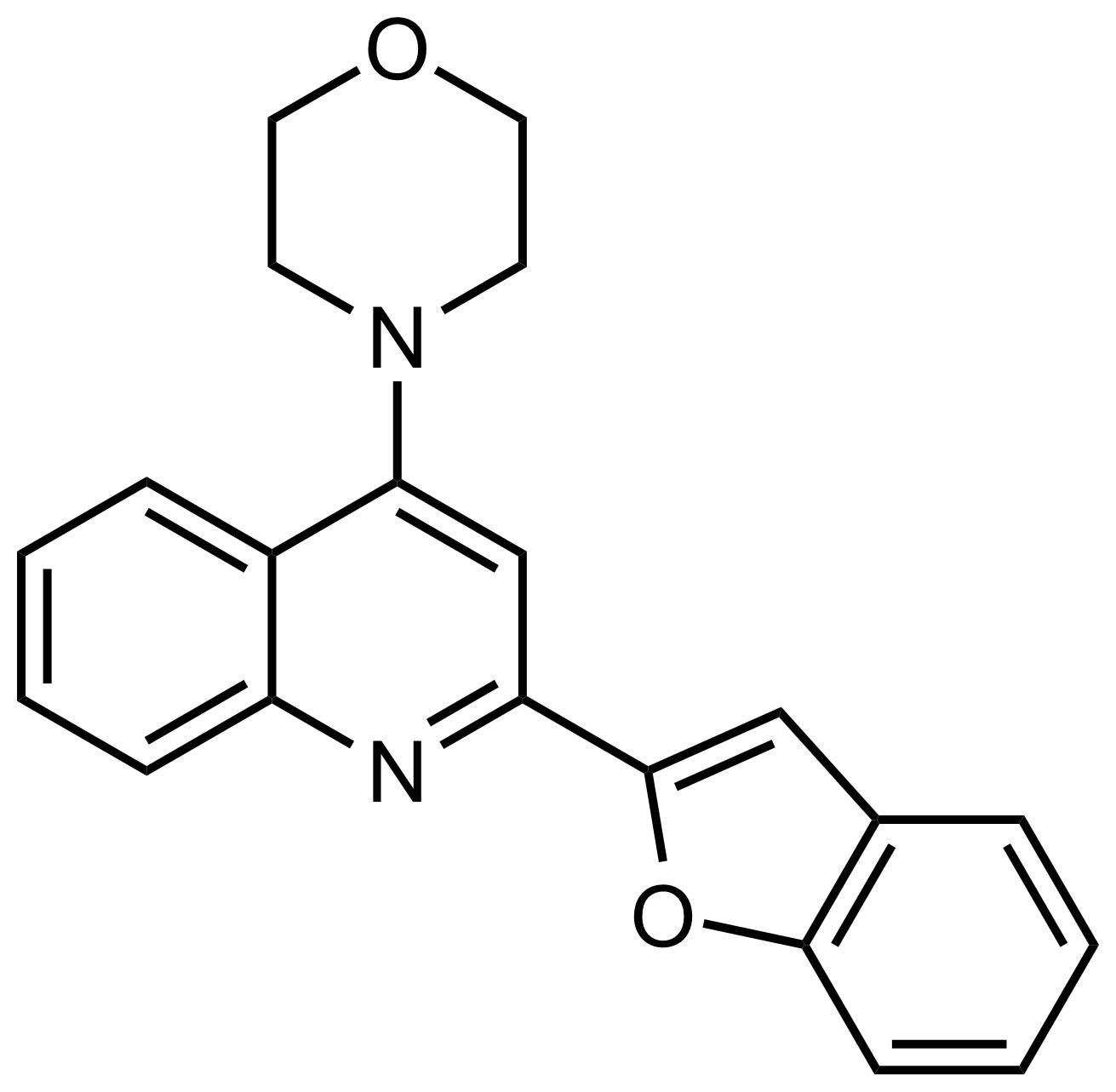 Structure of 4-(2-(Benzofuran-2-yl)quinolin-4-yl)morpholine