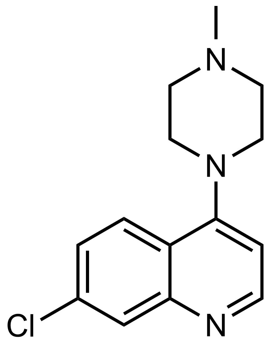 Structure of 7-Chloro-4-(4-methylpiperazin-1-yl)quinoline