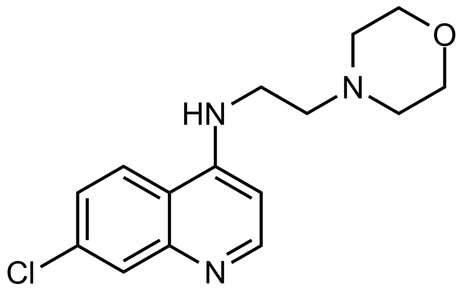Structure of 7-Chloro-N-(2-morpholinoethyl)quinolin-4-amine