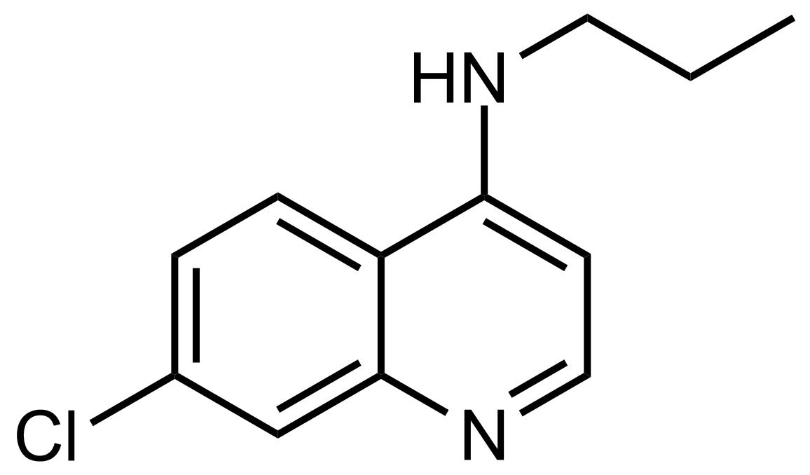 Structure of 7-Chloro-N-propylquinolin-4-amine