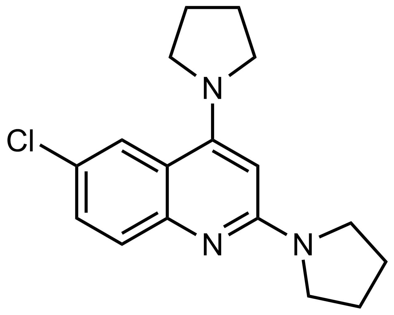 Structure of 6-Chloro-2,4-di(pyrrolidin-1-yl)quinoline