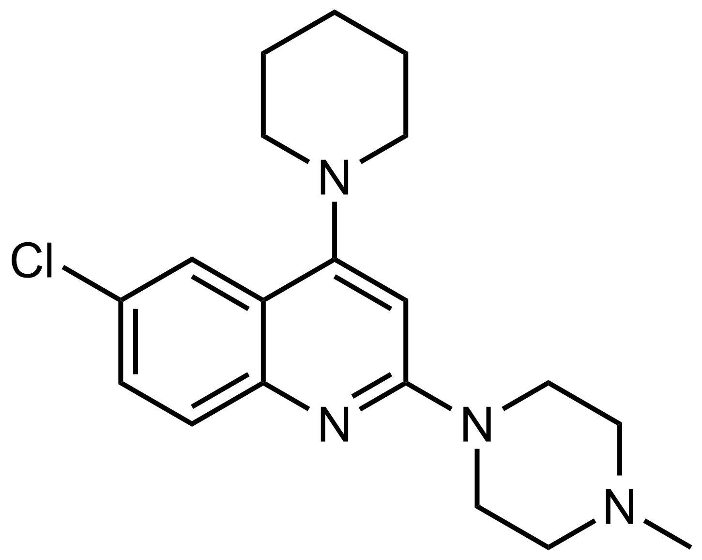 Structure of 6-Chloro-2-(4-methylpiperazin-1-yl)-4-(piperidin-1-yl)quinoline