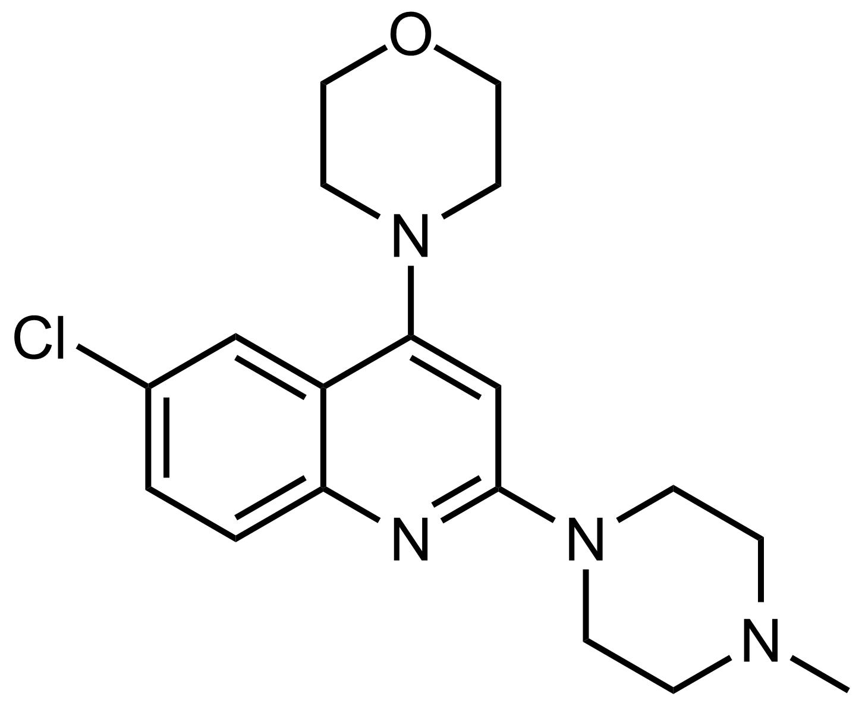 Structure of 4-(6-Chloro-2-(4-methylpiperazin-1-yl)quinolin-4-yl)morpholine