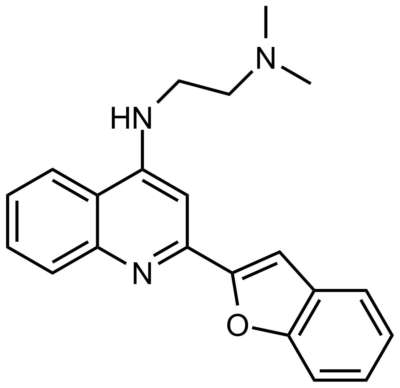 Structure of N'-(2-(Benzofuran-2-yl)quinolin-4-yl)-N,N-dimethylethane-1,2-diamine