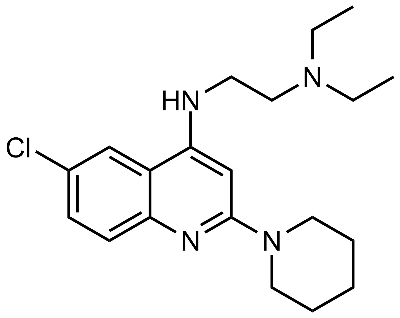 Structure of N'-(6-Chloro-2-(piperidin-1-yl)quinolin-4-yl)-N,N-diethylethane-1,2-diamine