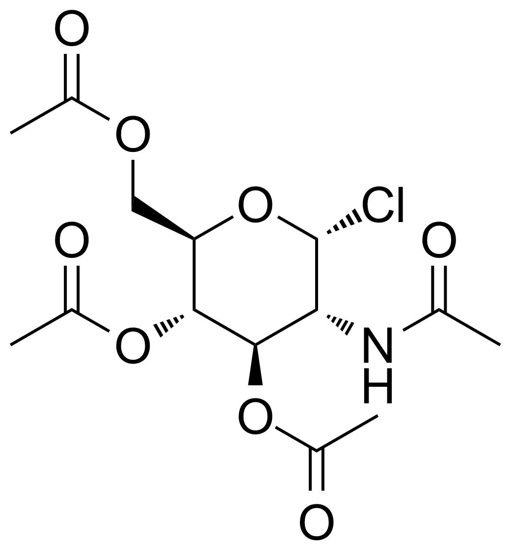 Structure of 2-Acetamido-3,4,6-tri-O-acetyl-2-deoxy-alpha-D-glucopyranosyl chloride