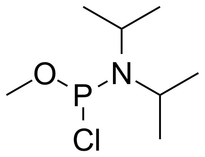 Structure of Methyl N,N-diisopropylchlorophosphoramidite