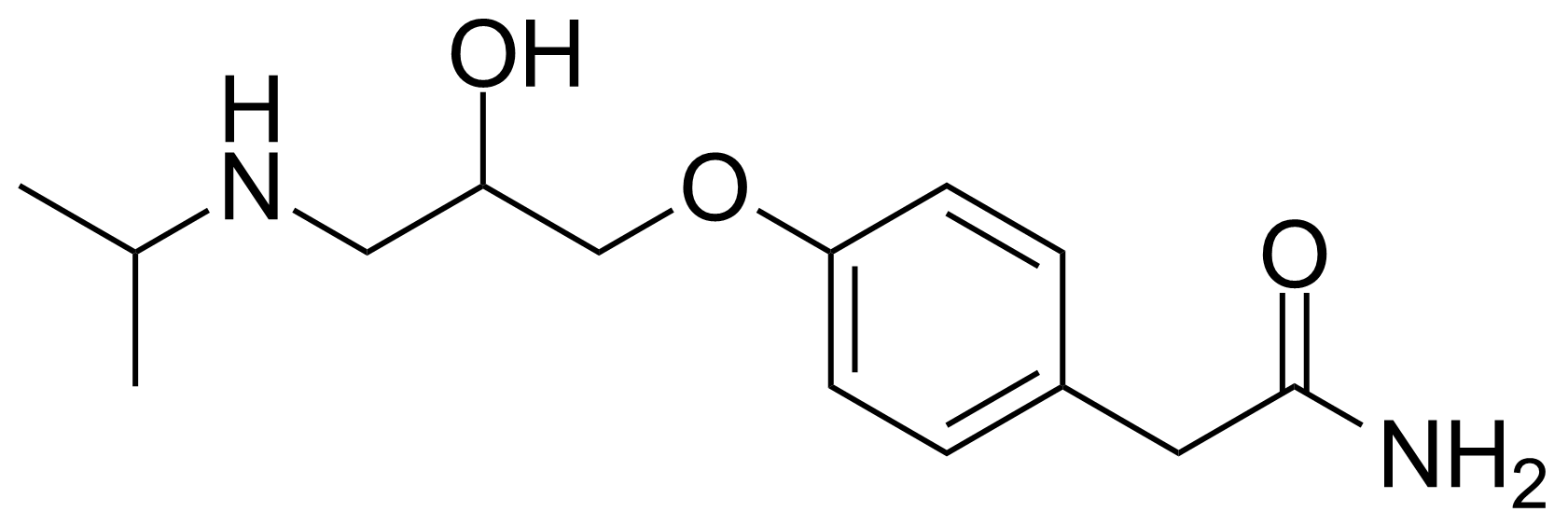 Structure of (R,S)-Atenolol