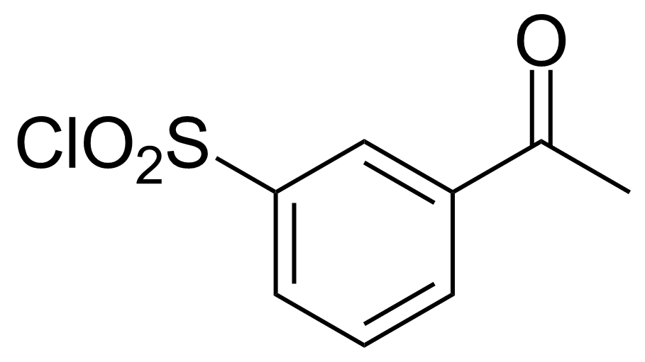 Structure of 3-Acetylbenzene-1-sulfonyl chloride