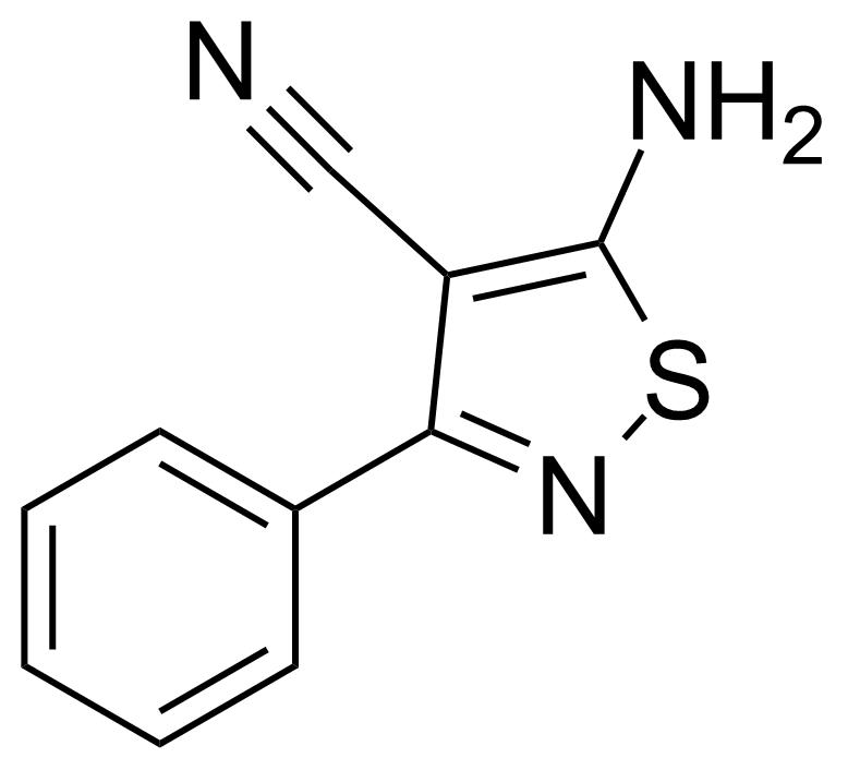 Structure of 5-Amino-3-phenyl-isothiazole-4-carbonitrile