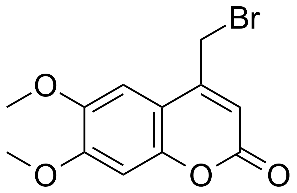 Structure of 4-(Bromomethyl)-6,7-dimethoxy coumarin