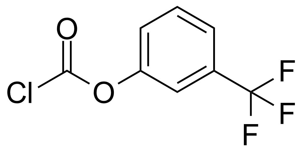 Structure of 3-(Trifluoromethyl)phenyl chloroformate