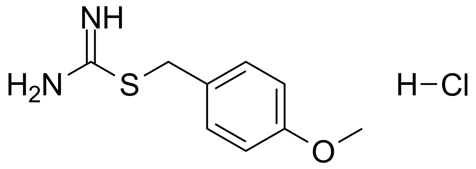 Structure of 2-(4-Methoxybenzyl)isothiourea hydrochloride