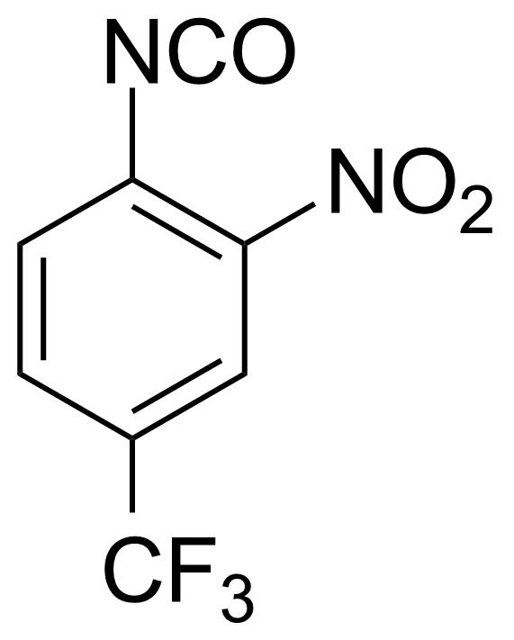 Structure of 2-Nitro-4-(trifluoromethyl)phenylisocyanate