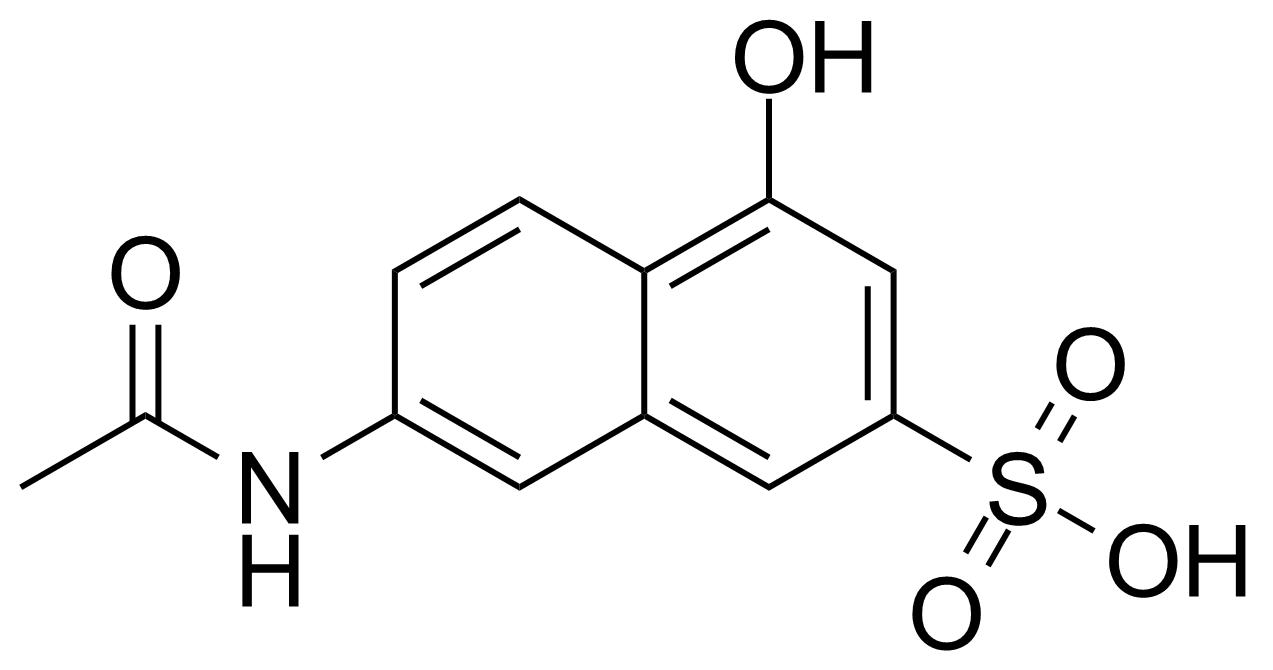 Structure of 7-Acetamido-4-hydroxy-naphthalene-2-sulfonic acid