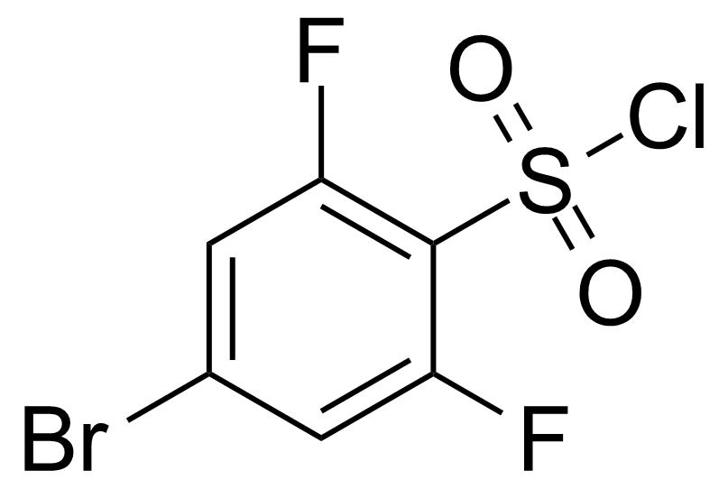 Structure of 4-Bromo-2,6-difluorobenzenesulphonyl chloride