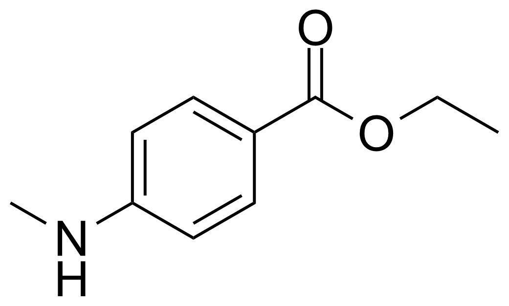 Structure of 4-(Methylamino)benzoic acid ethyl ester