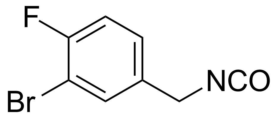 Structure of 2-Bromo-1-fluoro-4-(isocyanatomethyl)benzene