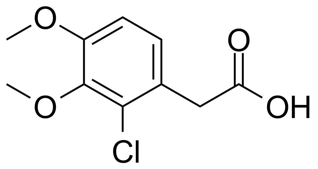 Structure of 2-(2-Chloro-3,4-dimethoxyphenyl)acetic acid