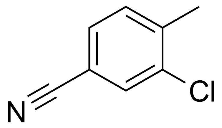 Structure of 3-Chloro-4-methylbenzonitrile