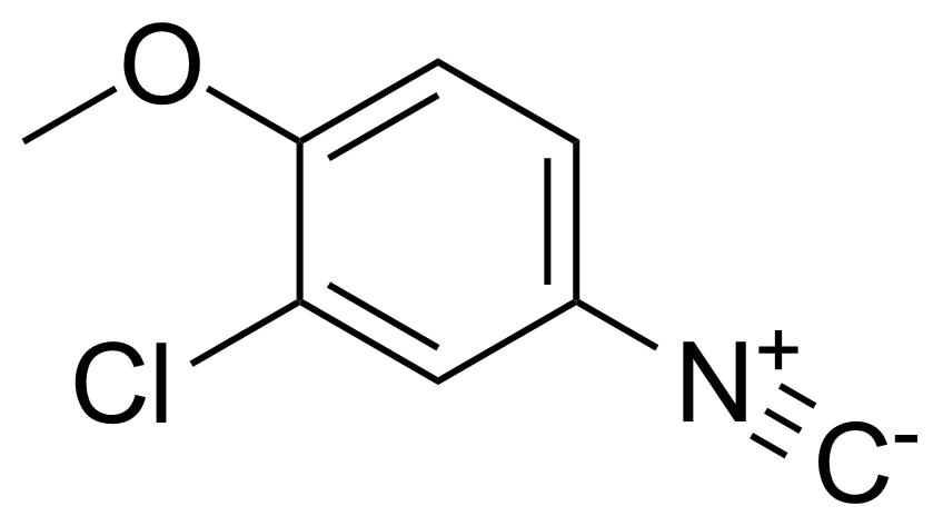 Structure of 2-Chloro-4-isocyano-1-methoxybenzene