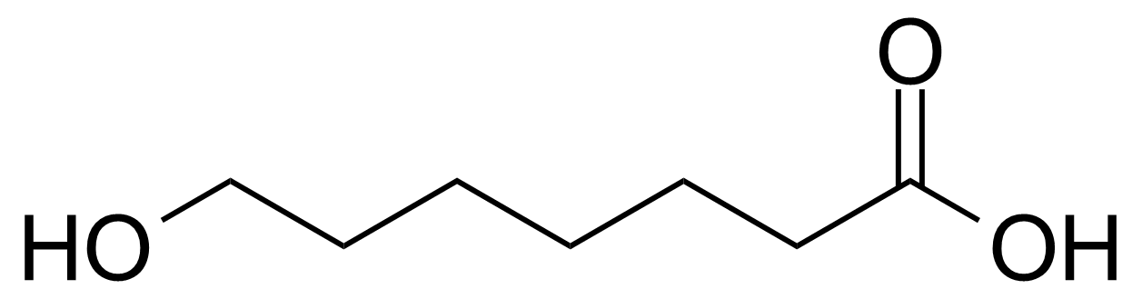 Structure of 7-Hydroxyheptanoic acid