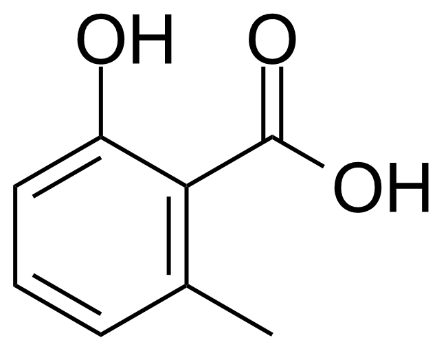 Structure of 2-Hydroxy-6-methylbenzoic acid