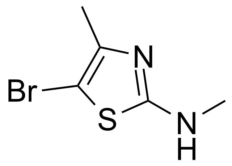 Structure of 5-Bromo-N,4-dimethyl-2-thiazolamine