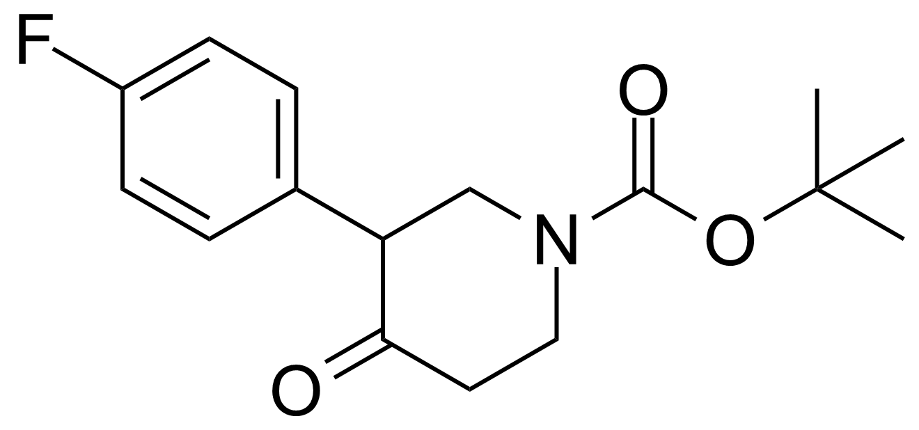 Structure of tert-Butyl 3-(4-fluorophenyl)-4-oxopiperidine-1-carboxylate