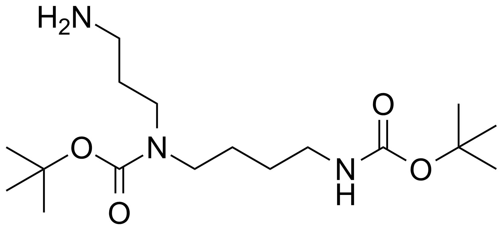 Structure of 1,6-Bis-Boc-1,6,10-triazadecane