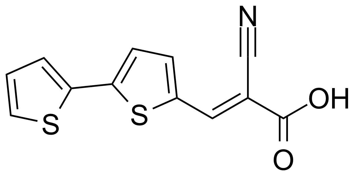 Structure of (2E)-3-[2,2'-Bithiophen]-5-yl-2-cyano-2-propenoic acid