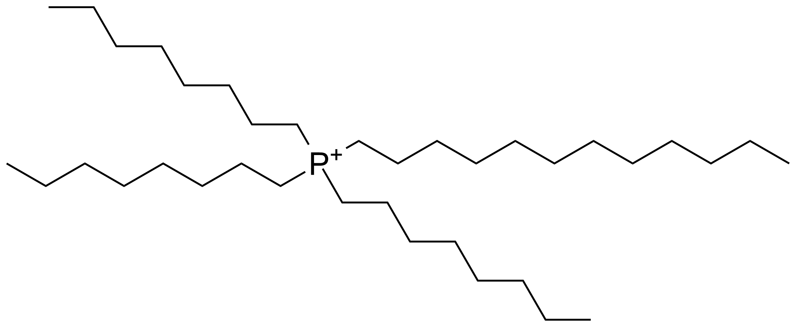 Structure of Trioctyldodecyl phosphonium chloride