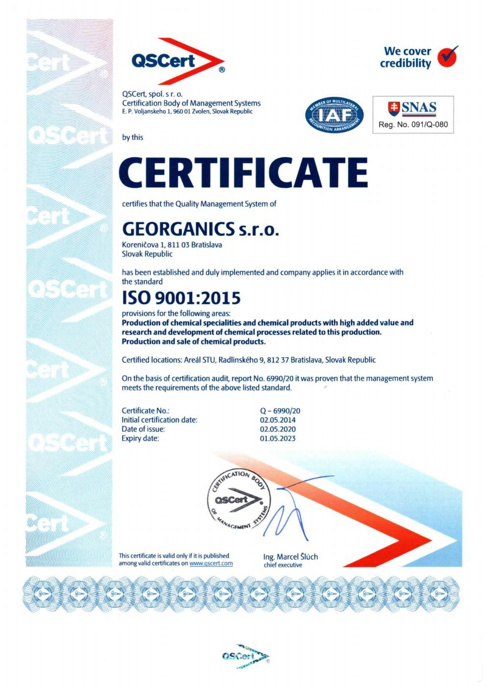 ISO 9001_2015 certificate