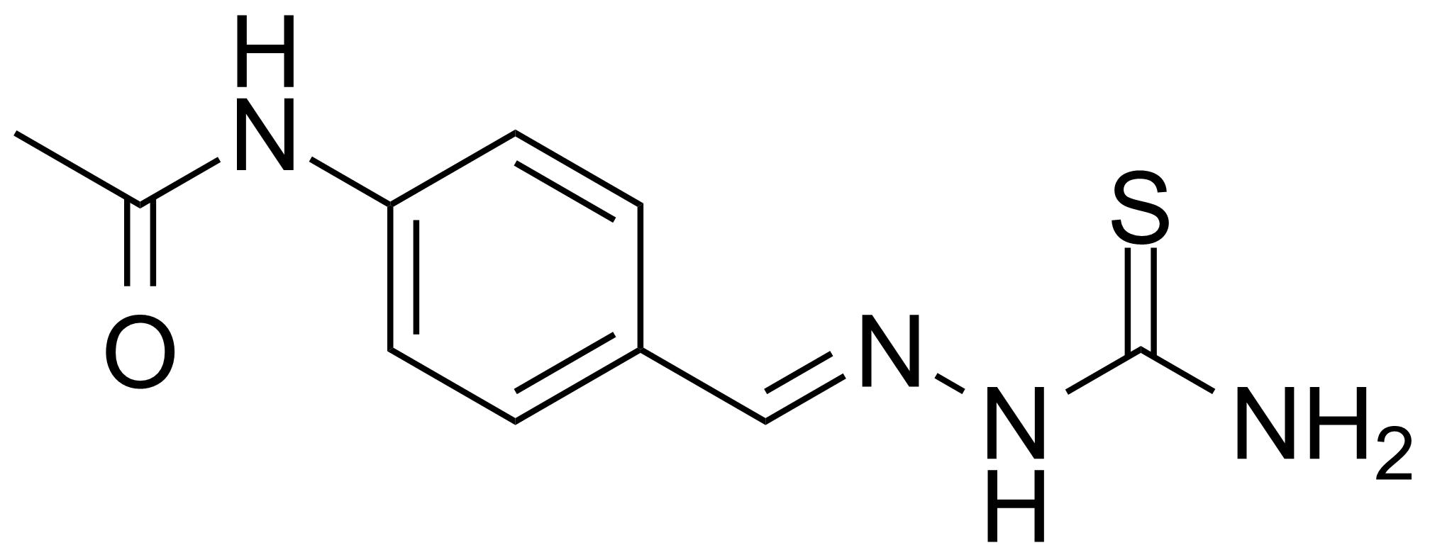 Structure of 4-Acetylaminobenzaldehyde thiosemicarbazone