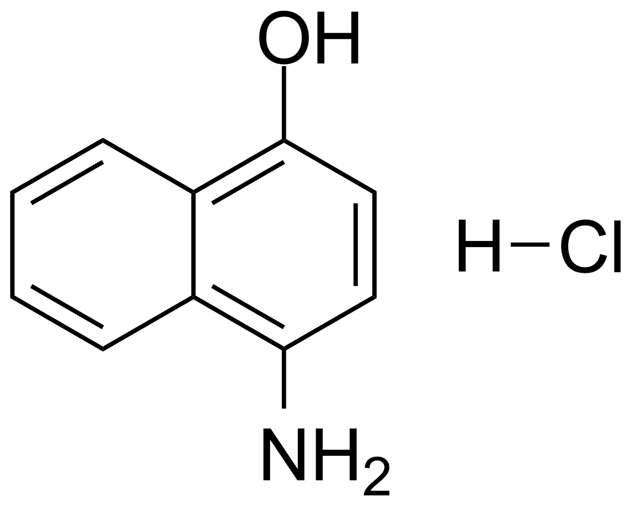 Structure of 4-Amino-1-naphthol hydrochloride