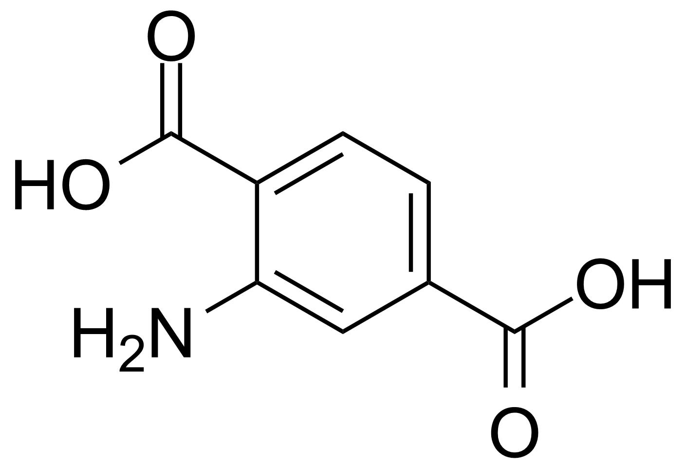 Structure of 2-Aminoterephthalic acid