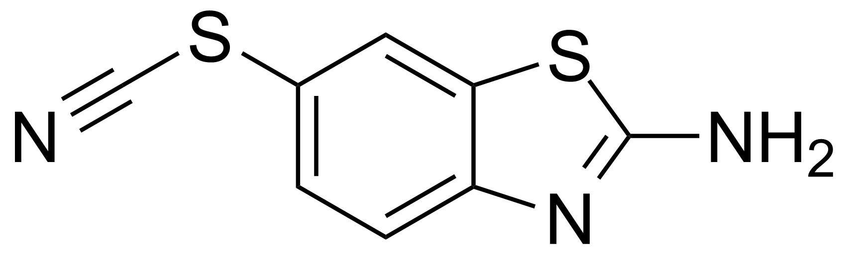 Structure of 2-Amino-6-thiocyanatobenzothiazole